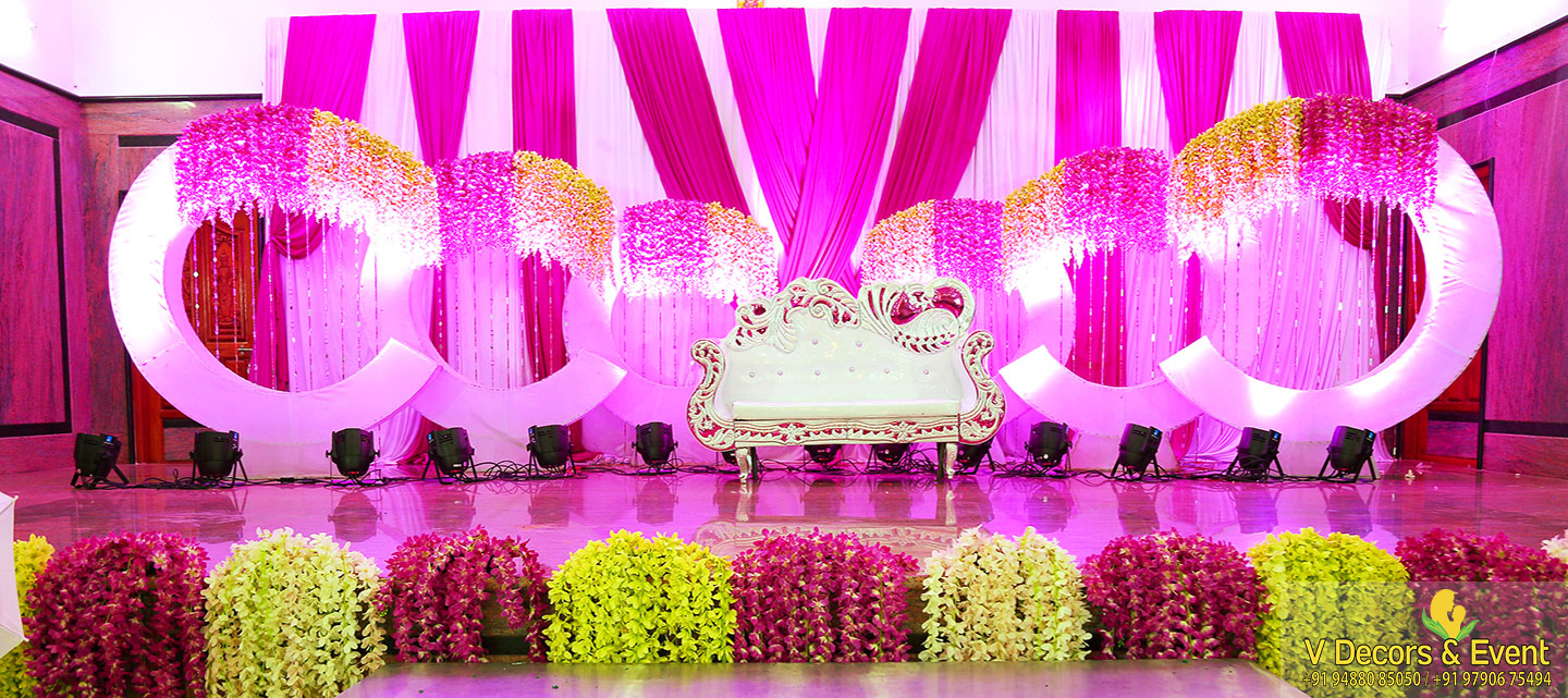 reception decorations AVRK mahal