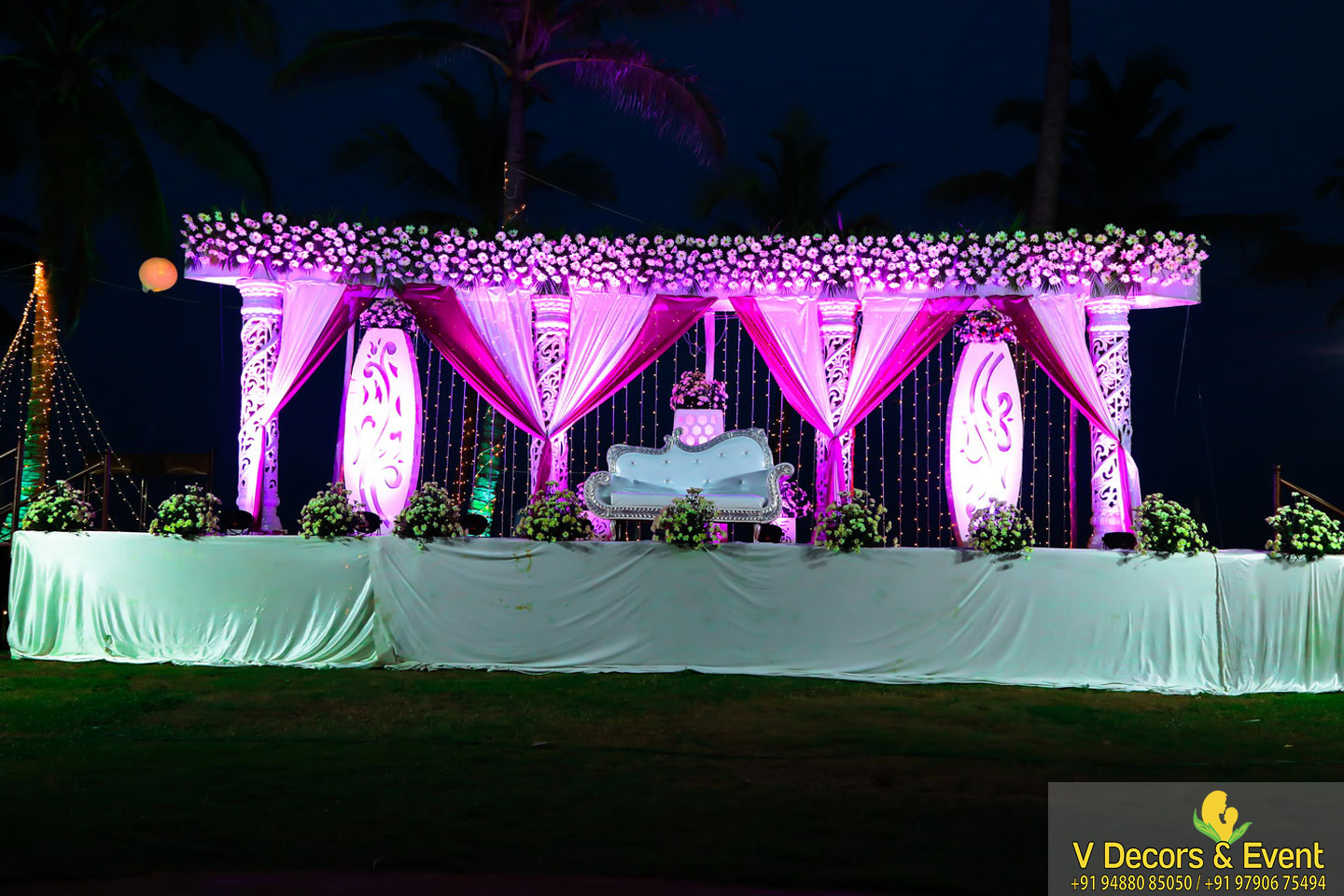reception decorations ashok beach resort