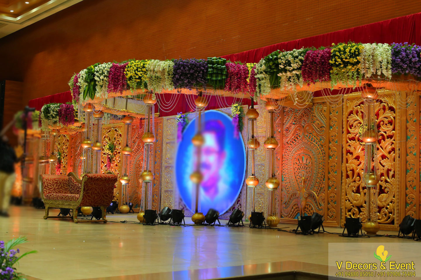 reception decorations Sangamithra Convention Center