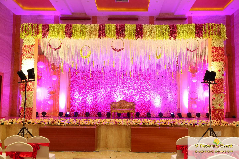 reception decoration SRI Ganesh Mahal pondicherry