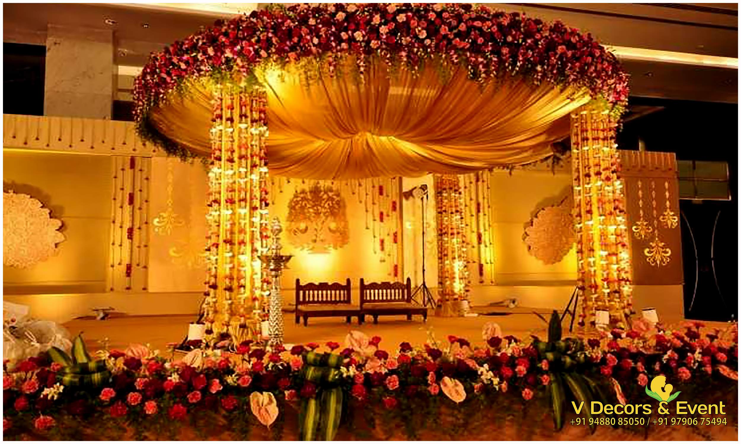 V decors and events wedding planners in pondicherry for Terrace party decoration