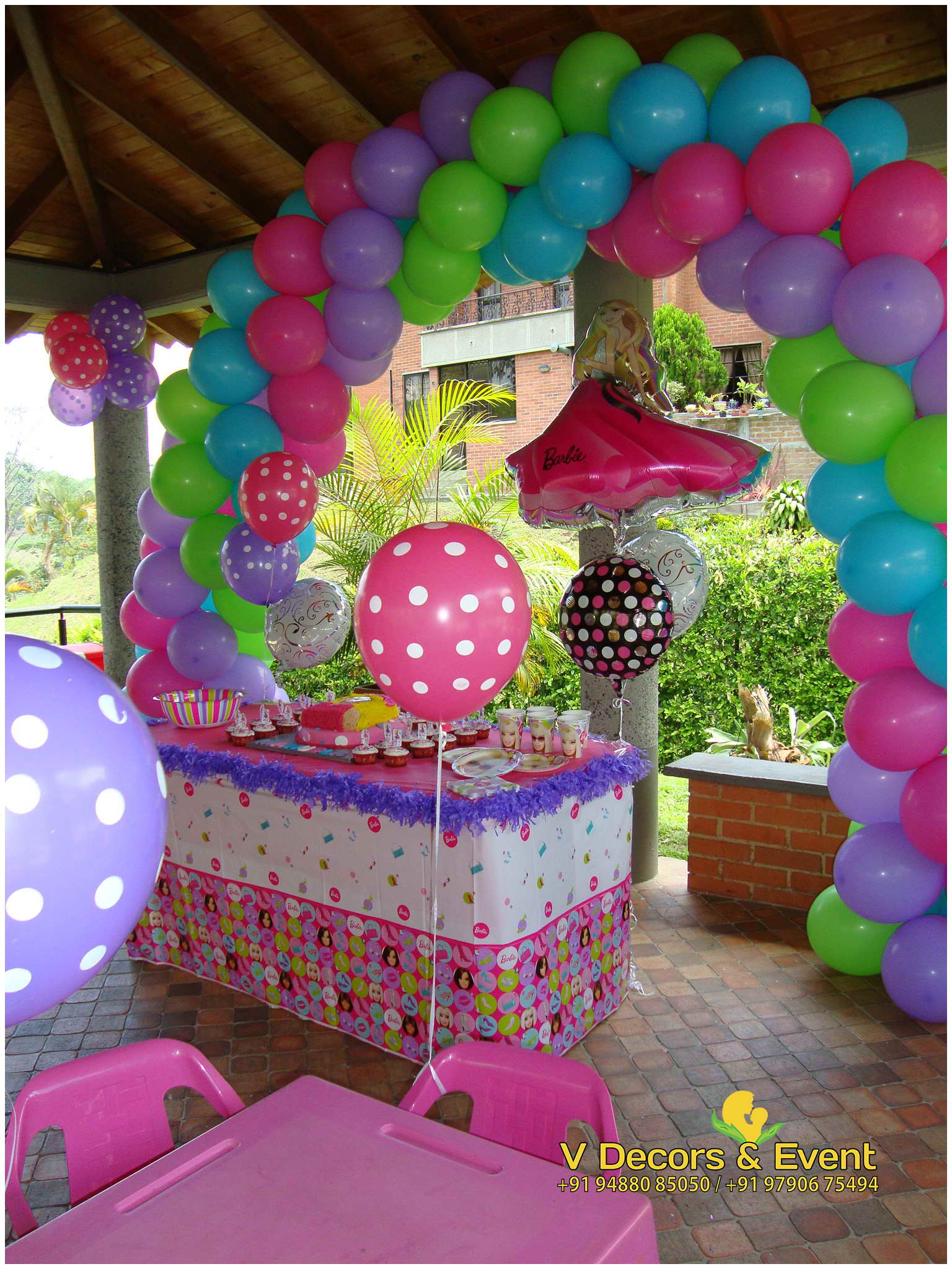 Barbie themed birthday decorations pondicherry barbie for Decoration barbie