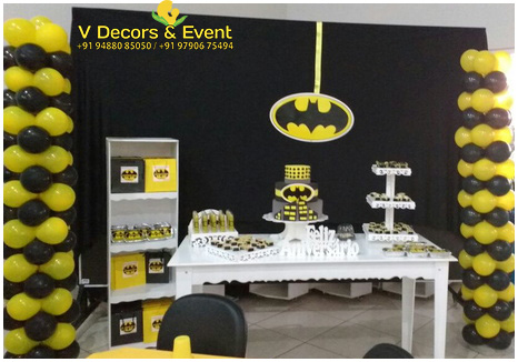 Batman Themed Birthday Decorations