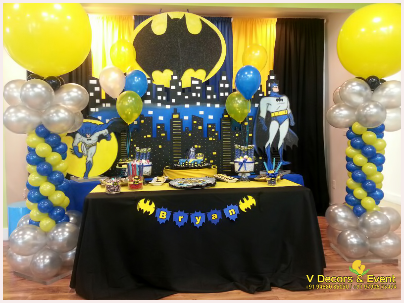 Themed Birthday Decorations Batman V Decors And Events 9488085050