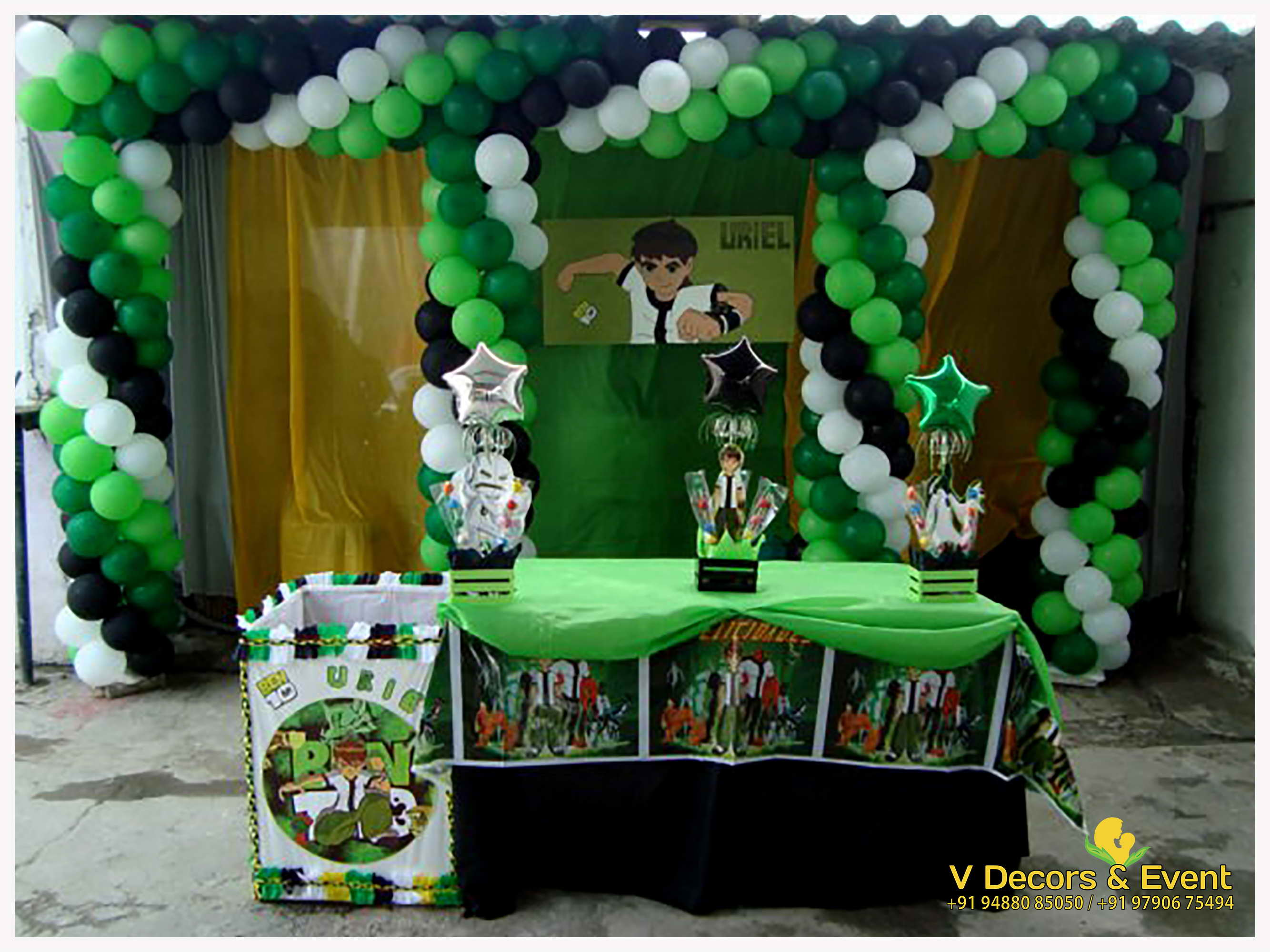 Ben 10 Party Decorations Pictures  from www.vdecorsandevent.com