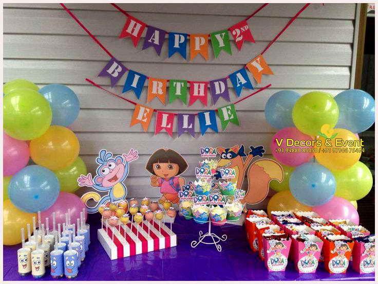 Dora Birthday Wall Decoration : Dora themed birthday decorations pondicherry