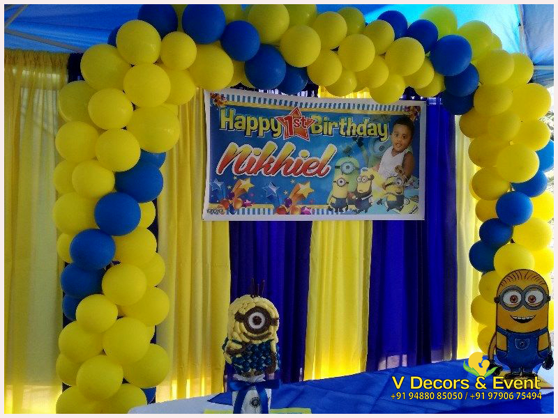 Themed Birthday Minions Decorations Pondicherry