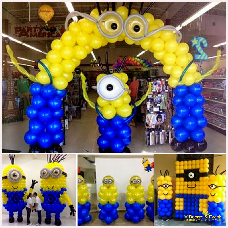 Themed Birthday Minions Decorations Pondicherry, Minions themed decorations Pondicherry