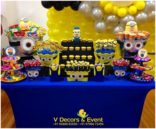 Minions Themed Birthday Decorations