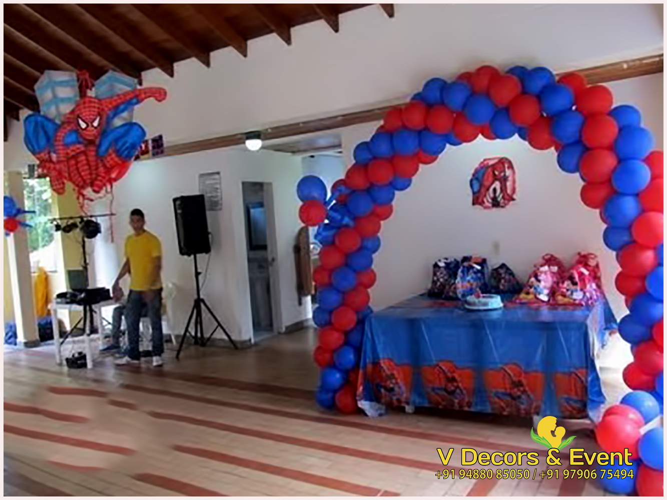 Spiderman Themed Birthday Decorations