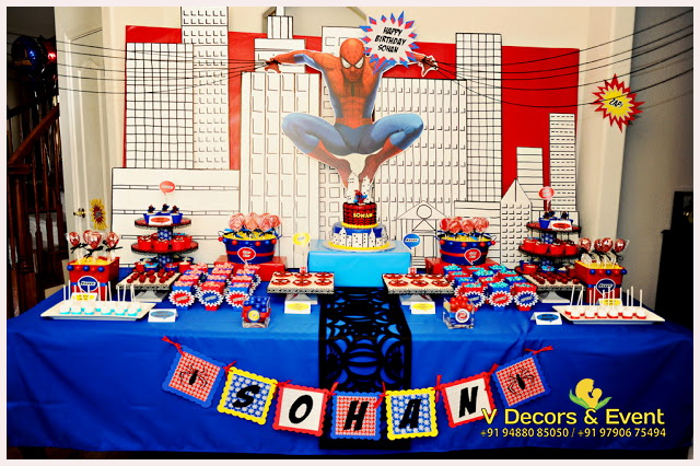 Spiderman birthday party decorating ideas #2