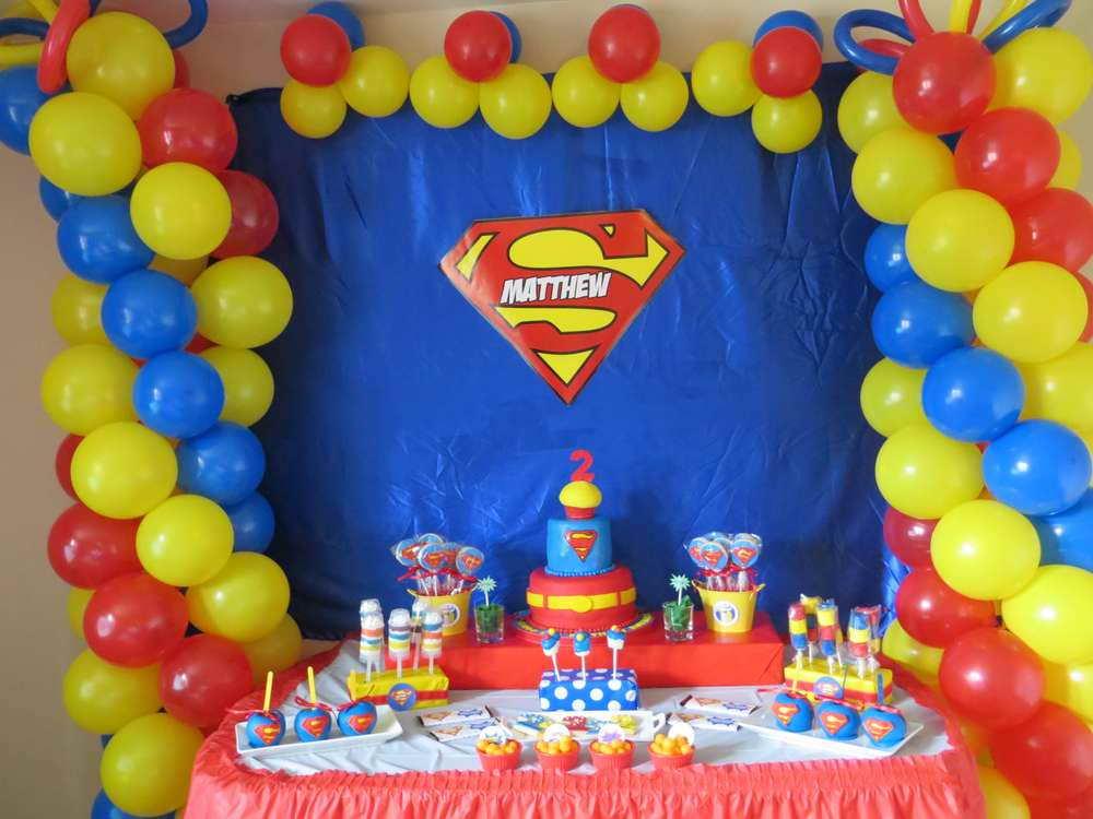 Superman Themed Decorations Birthday